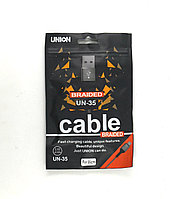 Usb  кабель  MicroUSB Union UN-35 1м 2.4А в пакете