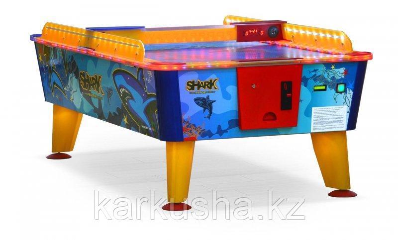 Всепогодный аэрохоккей «Shark» 8 ф (238 х 128 х 83 см, цветной, купюроприемник/жетоноприемник)