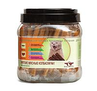 Мясные колбаски GreenQZin Подвижность №1 для кошек (Лосось и индейка) - 1 шт
