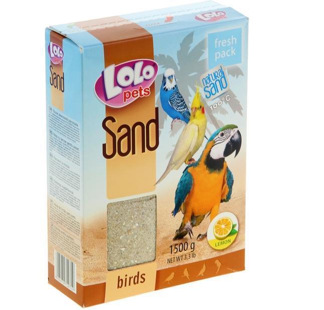 Песок с ракушками Lolo Pets Sand для высиживания птиц - 1.5 кг