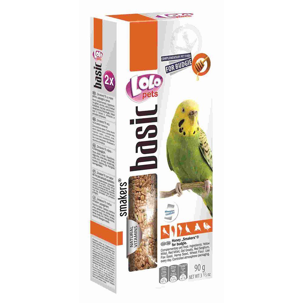 Смакерсы LoLo Pets для волнистых попугаев в период линьки - 90 г