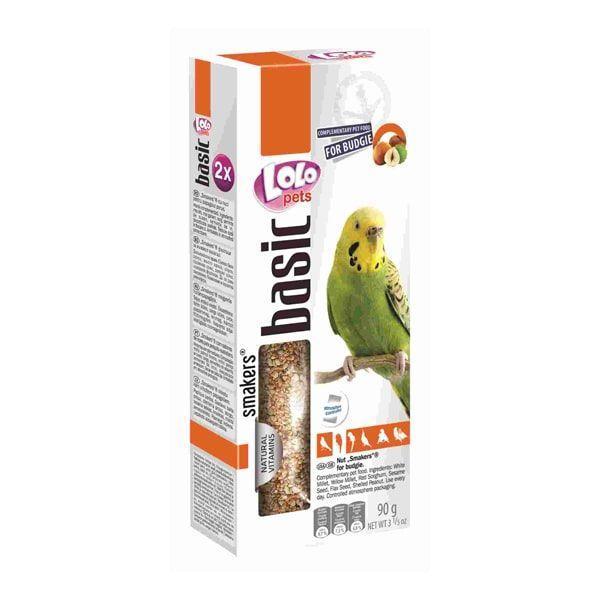 Зерновые палочки с орехами Lolo pets для попугаев нимф - 2 шт