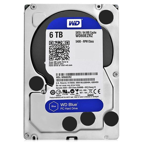 """Жёсткий диск HDD 6 Tb SATA 6Gb/s Western Digital Blue  3.5"""" 5400rpm 64Mb"""
