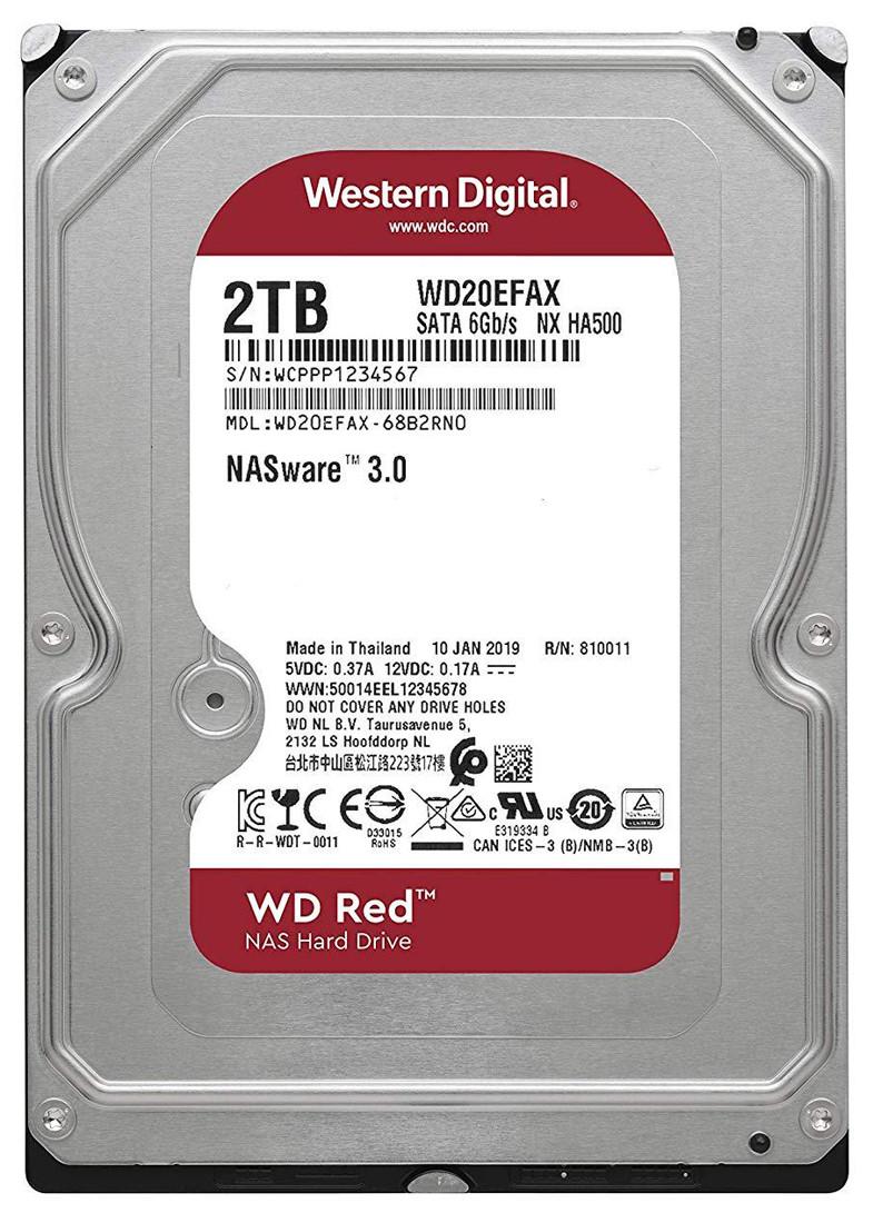 "Жёсткий диск HDD 2 Tb SATA 6Gb/s Western Digital Red 3.5"" 5400rpm 64Mb"