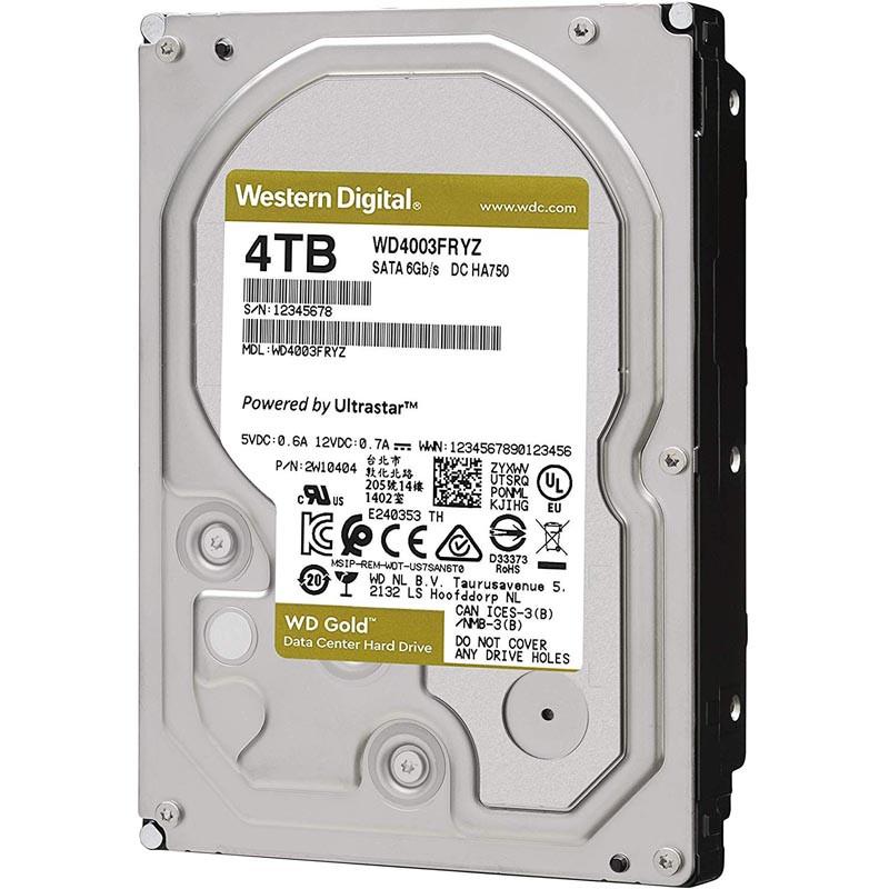 """Жесткий диск повышенной надежности HDD 4Tb Western Digital GOLD WD4003FRYZ SATA3 3,5"""" 7200rpm 256Mb"""