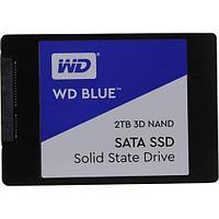 """Твердотельный накопитель 2000GB SSD WD WDS200T2B0A Серия BLUE 3D NAND 2.5"""" SATA3 R560Mb/s, W530MB/s,"""
