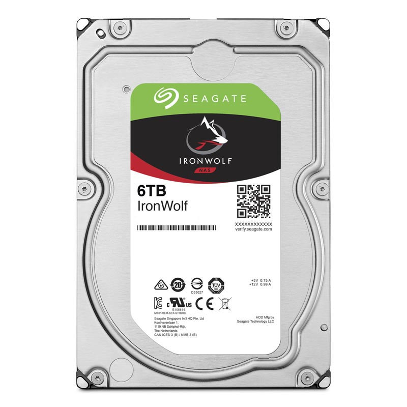 "Жесткий диск HDD 6 Tb SATA 6Gb/s Seagate IronWolf ST6000VN001 3.5"" 5400rpm 256MB"