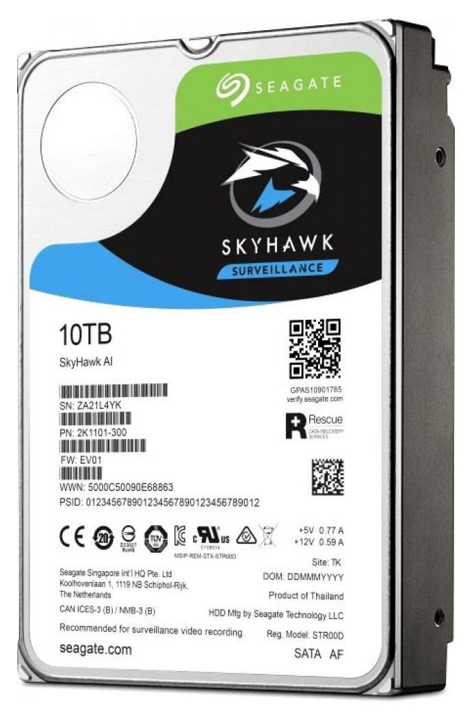 "Жесткий диск HDD 10 Tb SATA 6Gb/s Seagate SkyHawk AI ST10000VE0008 3.5"" 256MB"