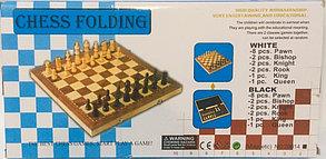 Сувенирные шахматы деревянные магнитные (размеры: 30*30*5 см), фото 2
