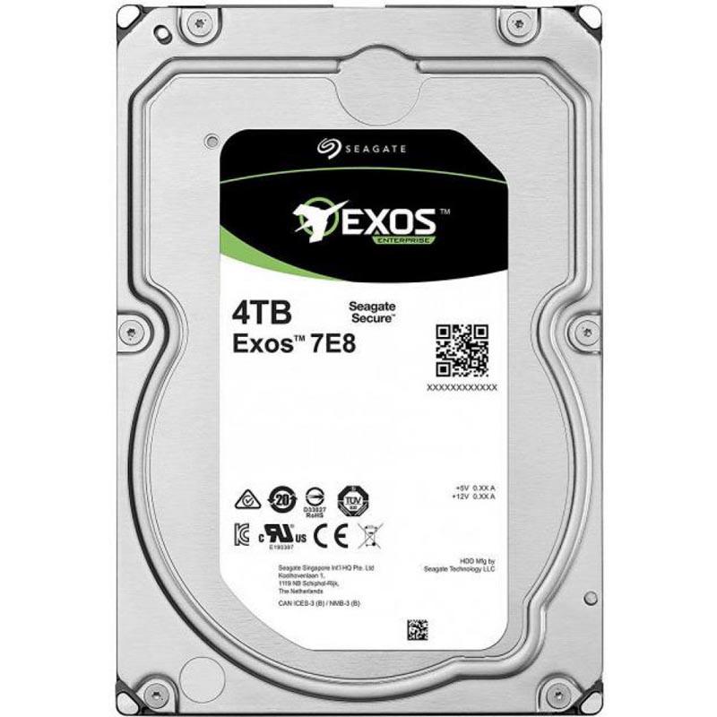 "Жесткий диск HDD 4 Tb SATA 6Gb/s Seagate Exos 7E8 3.5"" 7200rpm 256MB"