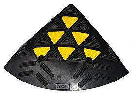 Cъезд с бордюра резиновый БС 100 (концевой элемент)