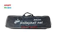 Сетка для волейбола с металлическим тросом Mikasa 6390 (размер: 9,5*1м, ячейка 10*10 см).