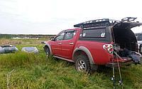 Багажник алюминиевый короткий для кунга