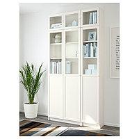 БИЛЛИ / ОКСБЕРГ Стеллаж, белый, стекло, 120x30x237 см, фото 1