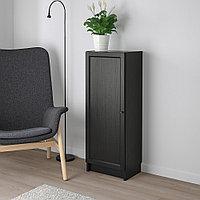 БИЛЛИ / ОКСБЕРГ Стеллаж с дверью, черно-коричневый, 40x30x106 см, фото 1