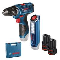 Набор Bosch GSR 120-LI+GLI 12V-300 2x1,5 Ач,ЗУ (06019F7005)