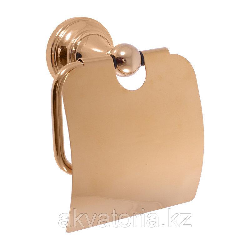 MKA0400Z Держатель туалетной бумаги с крышкой , золото