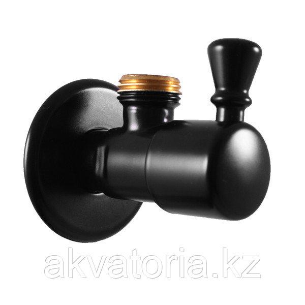 ROH001CMAT Угловой вентиль , черный матовый