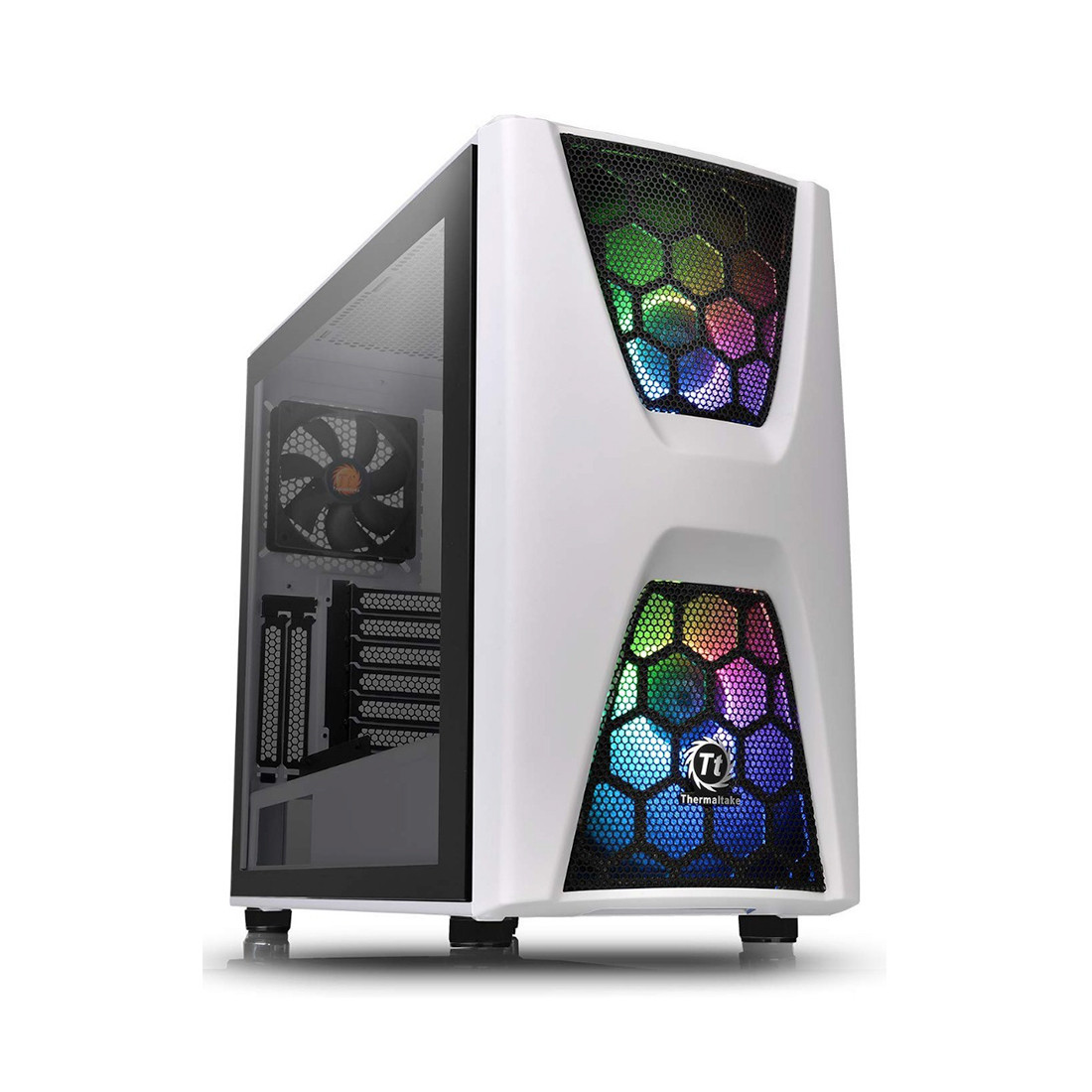 Компьютерный корпус Thermaltake Commander C34 TG Snow ARGB (CA-1N5-00M6WN-00, White)