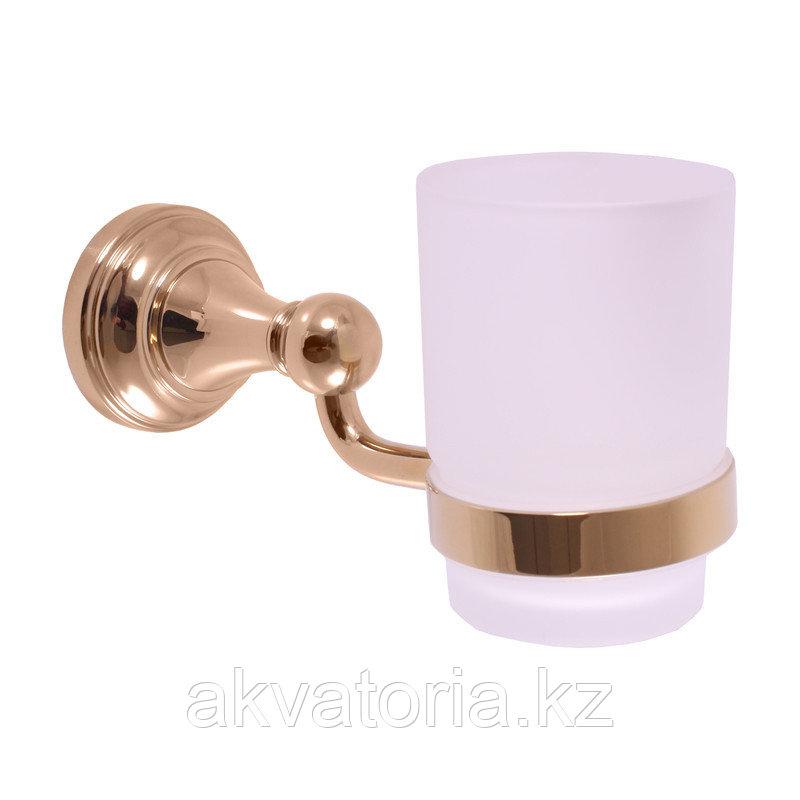 MKA0201Z Держатель для зубных щеток/стекло-золото