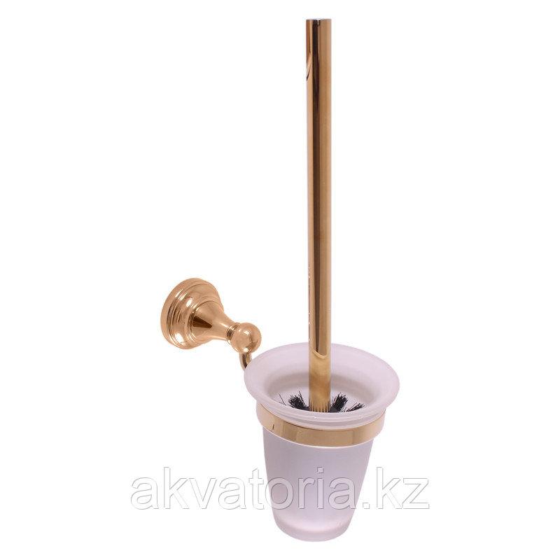 MKA0500Z Ёршик для унитаза с держателем /стекло- золото