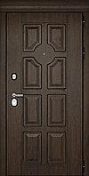 Входная дверь Дверной континент Милан темный орех/патина 860×2050