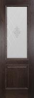 Комплект двери ДвериХолл Лорд ст. витраж Контур 600x2000
