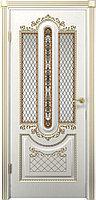 Комплект двери ДвериХолл Олимпия ДО патина золото ст. матовое 600x2000