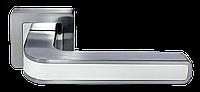 Дверная ручка Morelli DIY MH-46 SC/W-S55 Цвет - мат. хром/белый