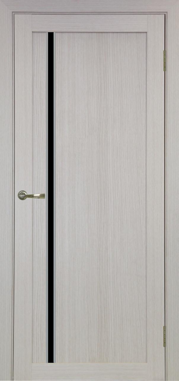 Комплект двери Оптима Порте 527 АПС мат.хром ст. черное 600x2000 - фото 1