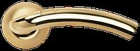 Дверная ручка Morelli Палаццо MH-02 SG/GP матовое золото/золото
