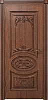 Комплект двери ДвериХолл Вителия ДГ черная патина 900x2000