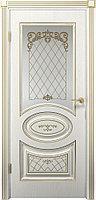 Комплект двери ДвериХолл Вителия ДО патина золото ст. матовое 600x2000