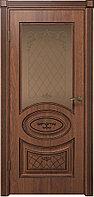 Комплект двери ДвериХолл Вителия ДО черная патина ст. бронза 600x2000