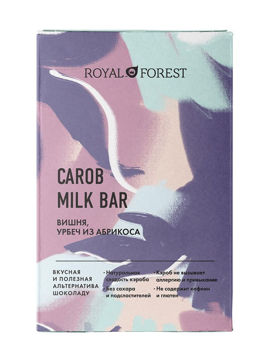 Шоколад из кэроба ROYAL FOREST (Вишня,урбеч абрикосовый), 50г