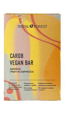 Шоколад из кэроба ROYAL FOREST (Абрикос, урбеч абрикосовый), 50г