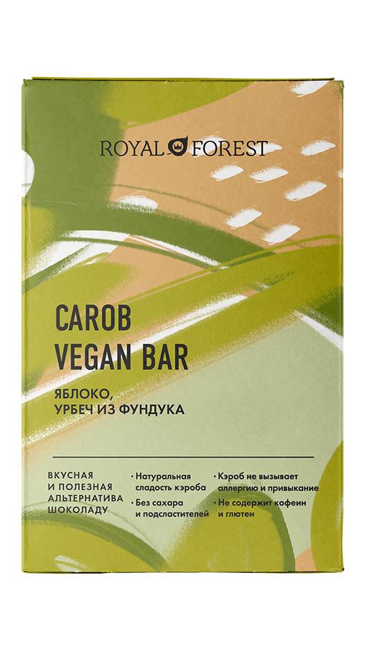 Шоколад из кэроба ROYAL FOREST (Яблоко, урбеч из фундука), 50г