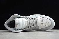 """Кожаные кроссовки Dior x Air Jordan 1 High OG AJ1 """"Grey/White-Black"""" (36-46), фото 4"""