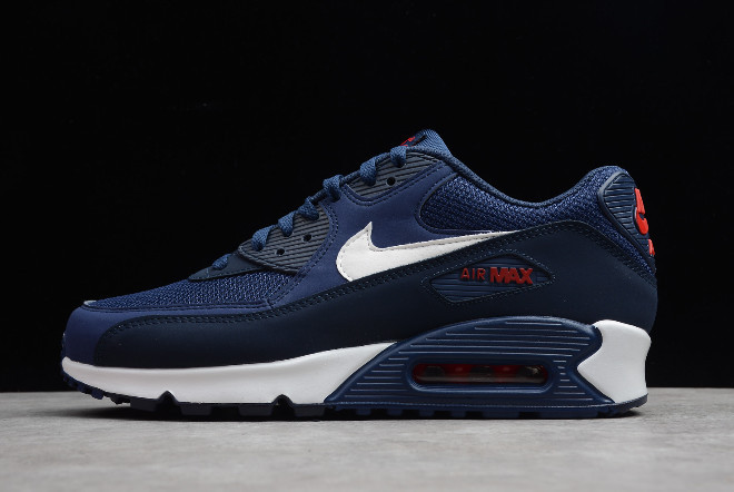 "Кроссовки Nike Air Max 90 Essential ""Midnight Navy/University Red-White"" (36-45)"
