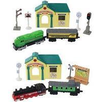 Wincars Набор железнодорожная станция, поезда и аксессуары.