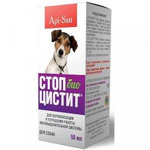Api-San Стоп-цистит Био для для нормализации и улучшения работы МКБ собак и кошек - фл. 50 мл