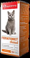 Гепатовет Актив для лечения заболеваний печени кошек, Api-San - фл. 25 мл