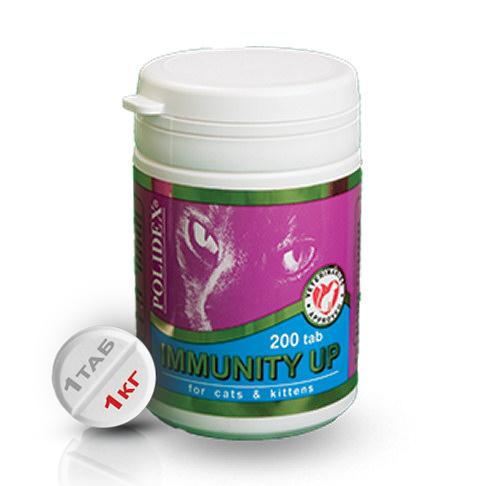 Polidex Immunity Up для повышения иммунитета ослабленных и часто заболевающих кошек - 200 табл.