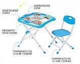 Набор детской складной мебели Ника в кругу друзей стол+стул от 3 до 14 лет, фото 2
