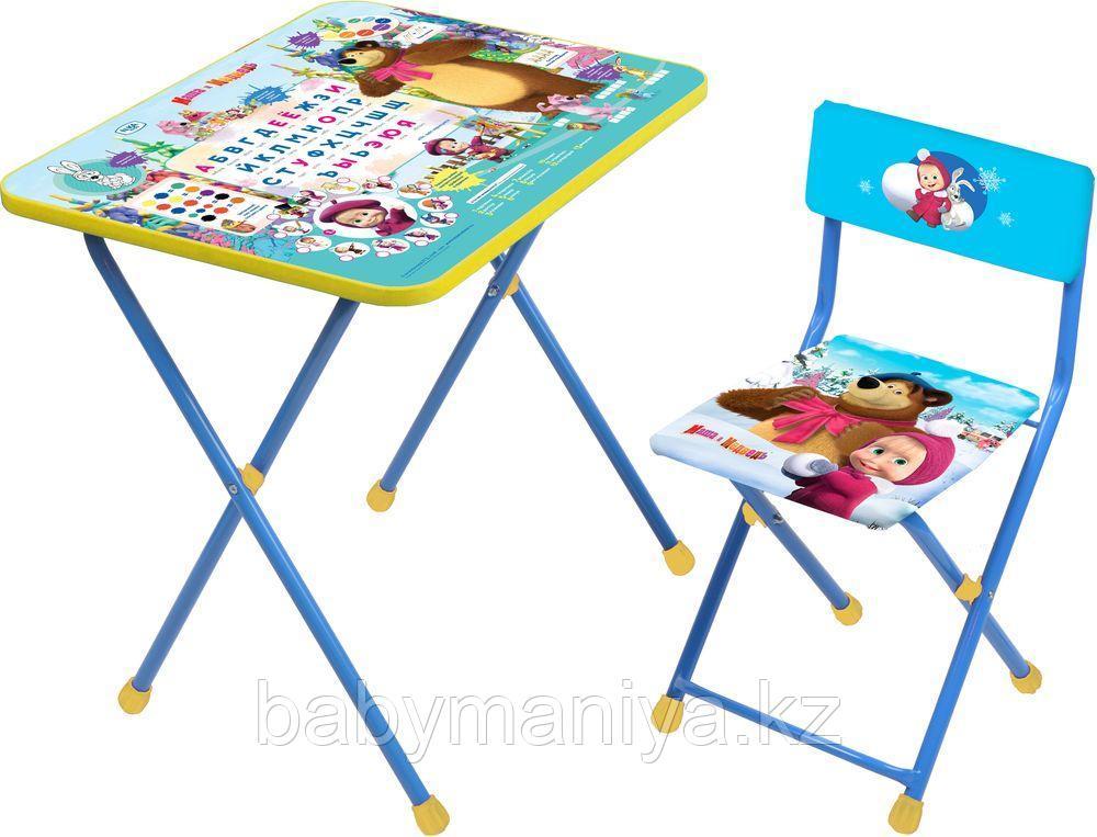 Набор мебели НИКА  МАША И МЕДВЕДЬ (стол-парта+пласт стул)  Азбука2