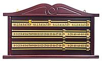 Доска счетная для снукера (махагон)