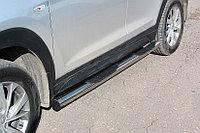 Защита порогов d76 с проступями Hyundai Tucson 2019-