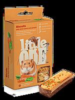 Бисквиты Little One для декоративных животных с морковью и шпинатом - 5х7 г