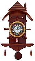 Часы настенные «Избушка» 33 см х 66 см, деревянные