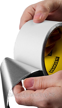Лента клейкая алюминиевая, 50мкм, 50мм х 50м, STAYER Professional, фото 2